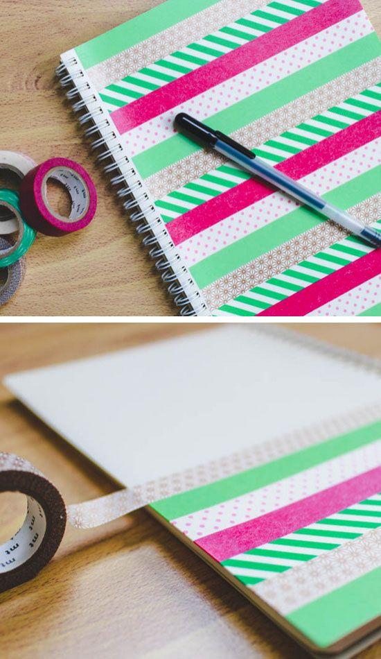 DIY Washi Tape Notebook.