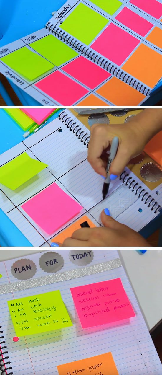 Colorful DIY Planner.