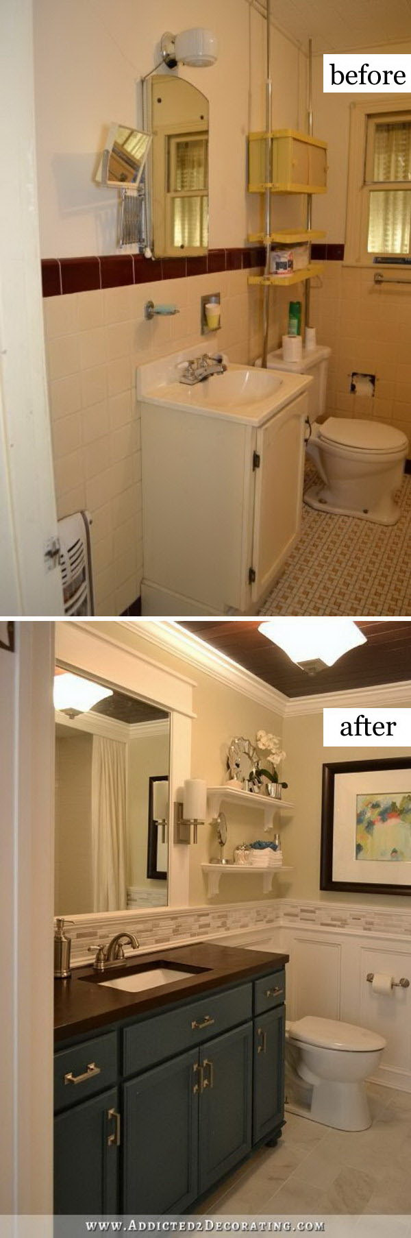 Before and after makeovers 30 awesome bathroom for Bathroom renovation before and after