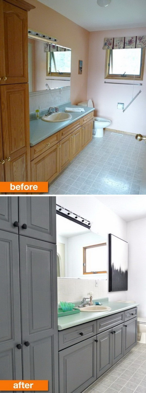 Before And After Makeovers Awesome Bathroom Remodeling Ideas - Budget friendly bathroom remodels