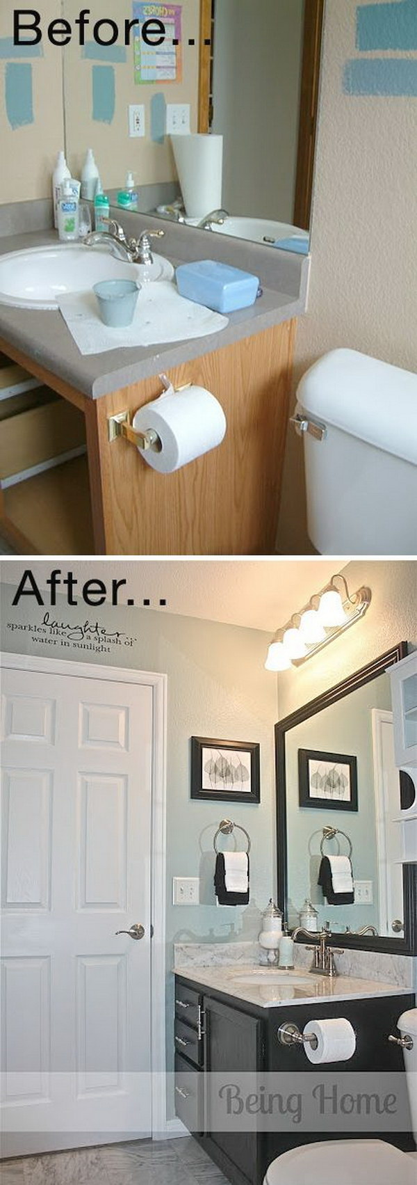 Tiny Bathroom Cheap Makeover