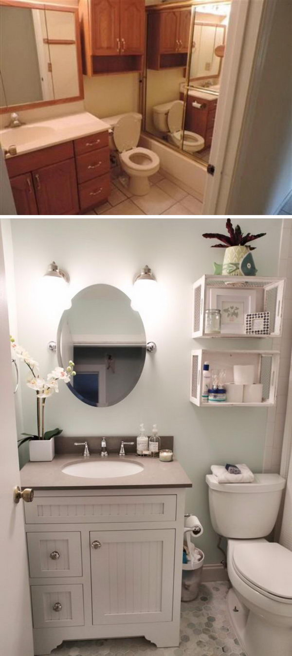 Spa Inspired Bathroom Makeover.