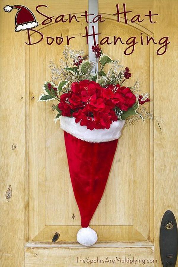 Door Hanger Santa Hat