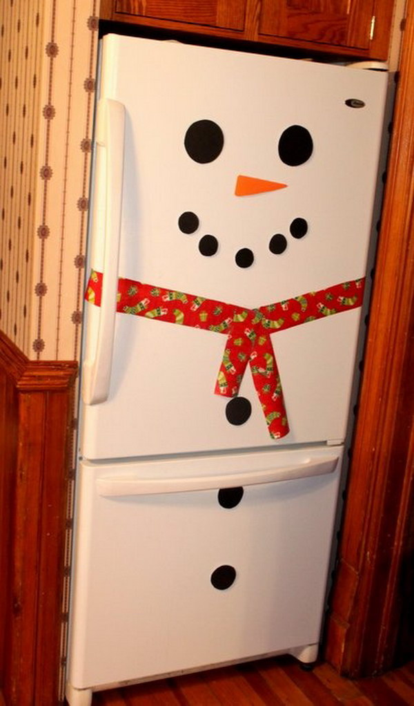Snowman Fridge Christmas Decoration