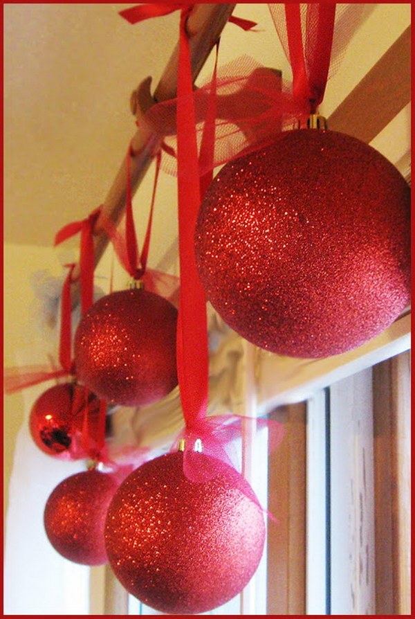 DIY Glittery Ornaments