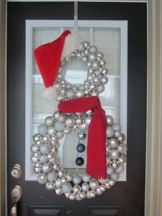 25 amazing christmas door decorations 2017 for How to make christmas door wreaths