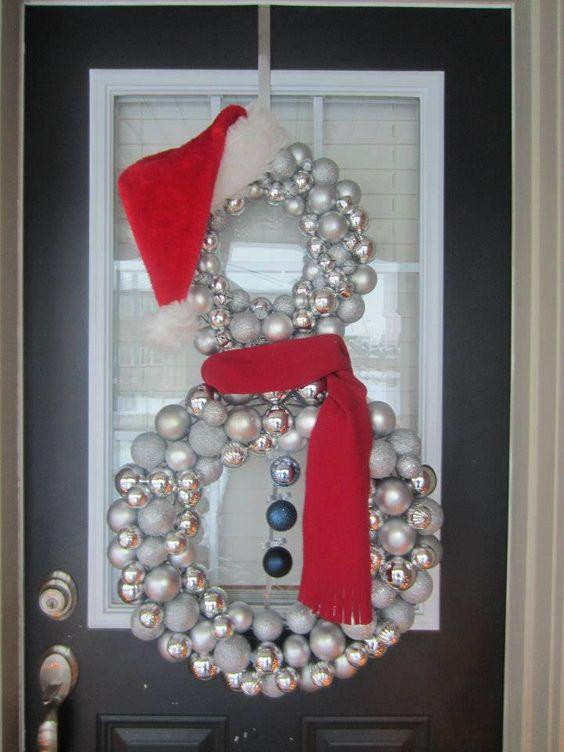 Ornaments Snowman Wreath.