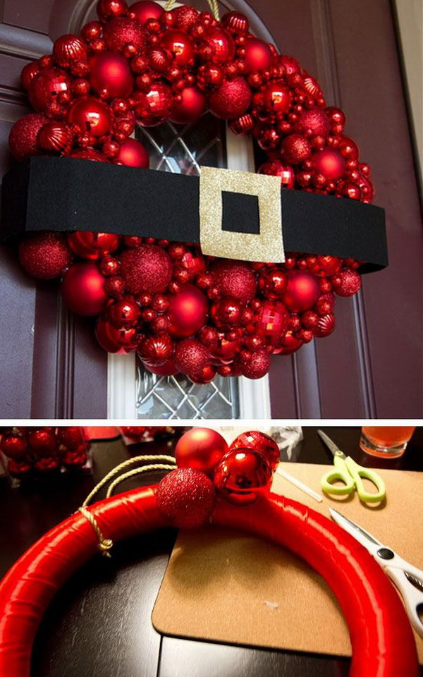 DIY Ornament Wreath.