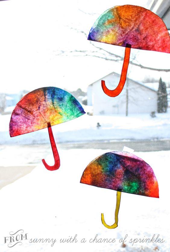 Colorful Coffee Filter Umbrella.