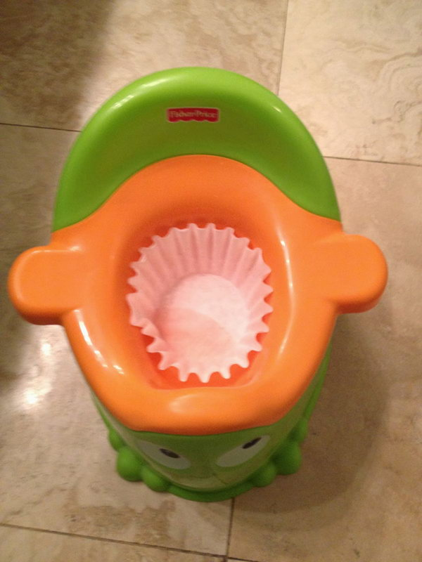 Coffee Filter Potty Training Aid
