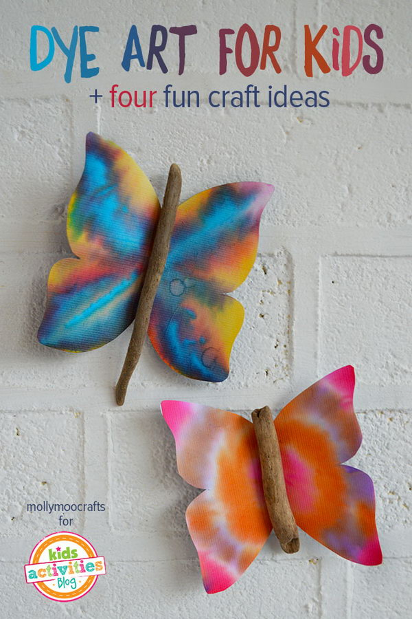 Coffee filter dye art project for kids