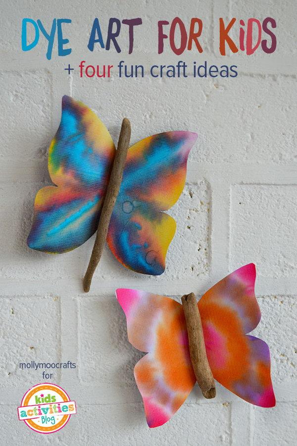 Coffee filter dye art project for kids
