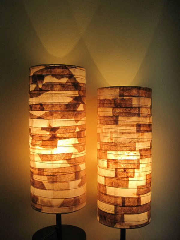 DIY Coffee Filter Lamp