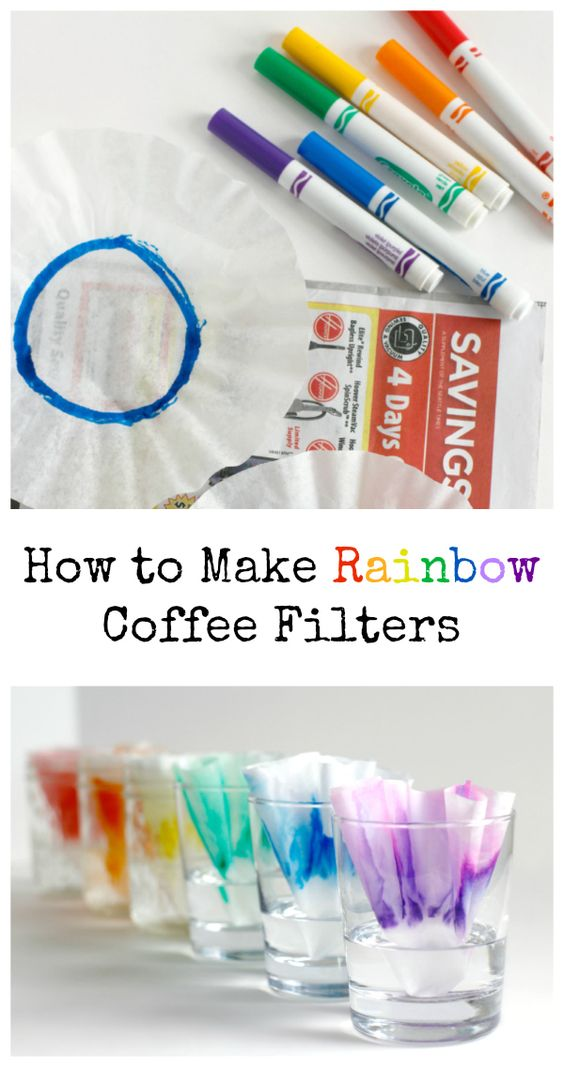 Rainbow Marker Coffee Filter Experiment.