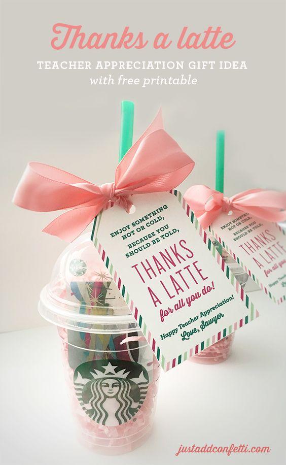 Thanks A Latte Teacher Appreciation Gift.