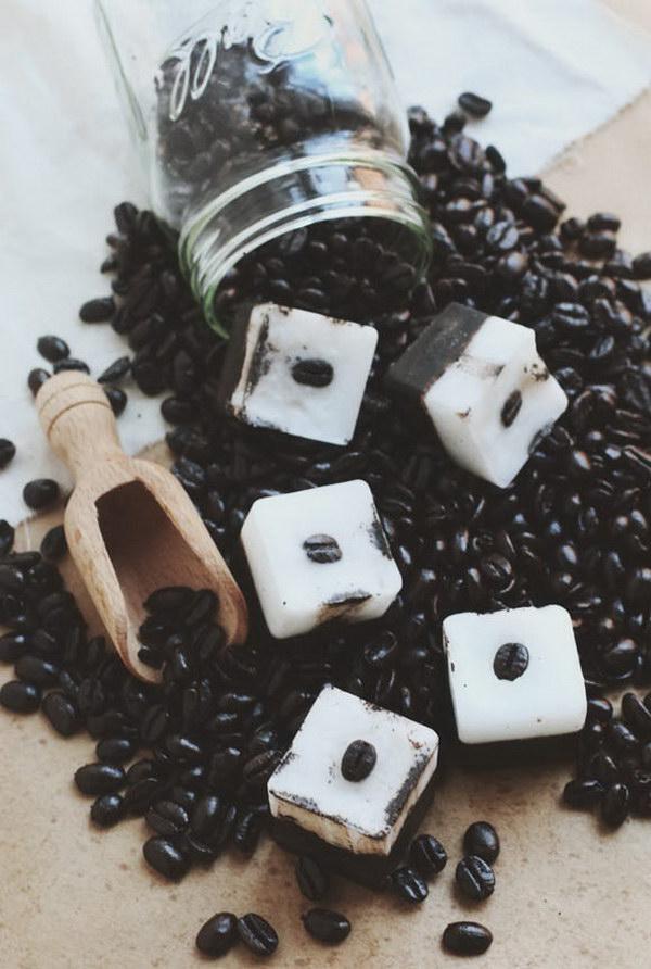 DIY Exfoliating Coffee Coconut Bars.