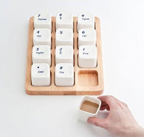 Ctrl Alt Del Keyboard Coffee Cup Set .