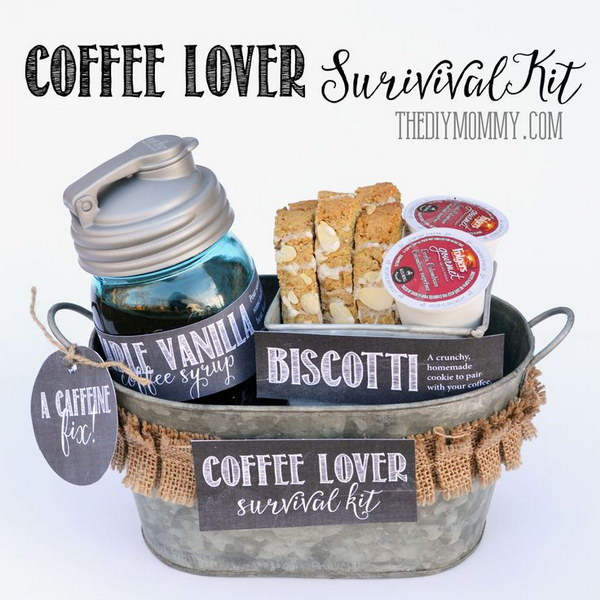 A Gift in a Tin: Coffee Lover Survival Kit.