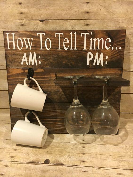 How To Tell Time Coffee Mug Rack.