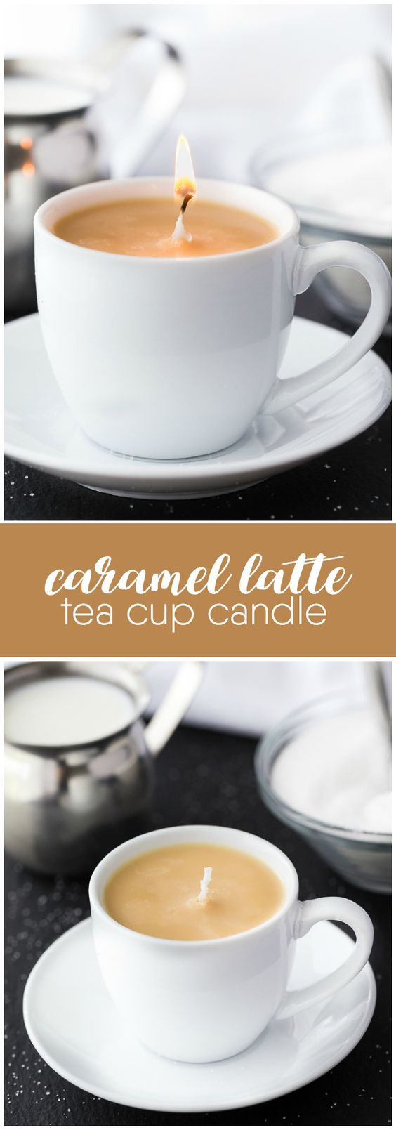 Caramel Latte Tea Cup Candle.