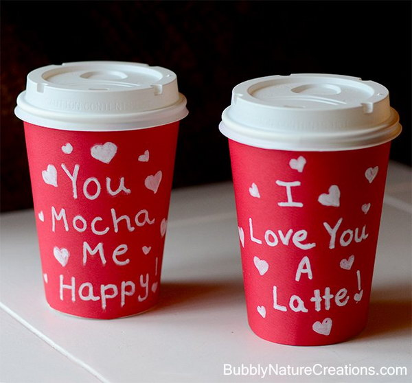 You Mocha Me Happy! I Love You A Latte!.