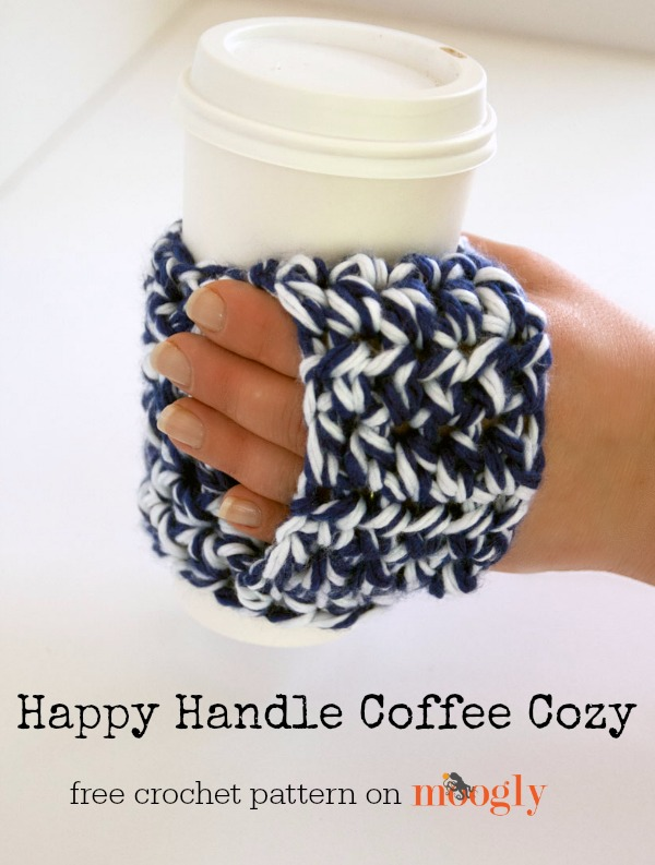 Happy Handle Coffee Cozy.