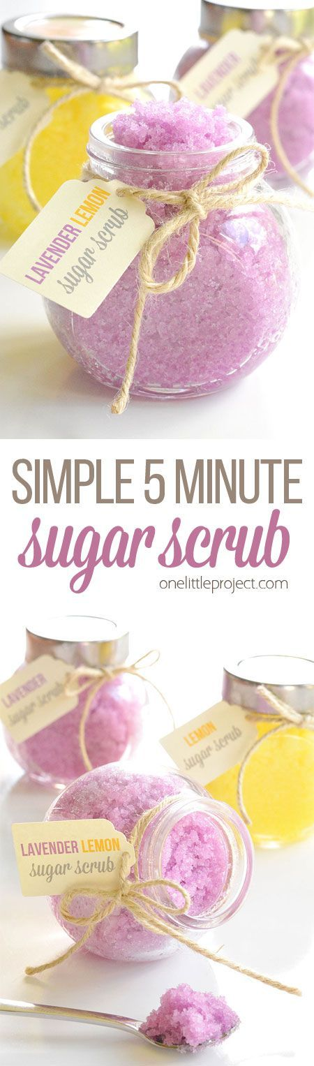 This Homemade Sugar Scrub Only Takes 5 Minutes To Make.