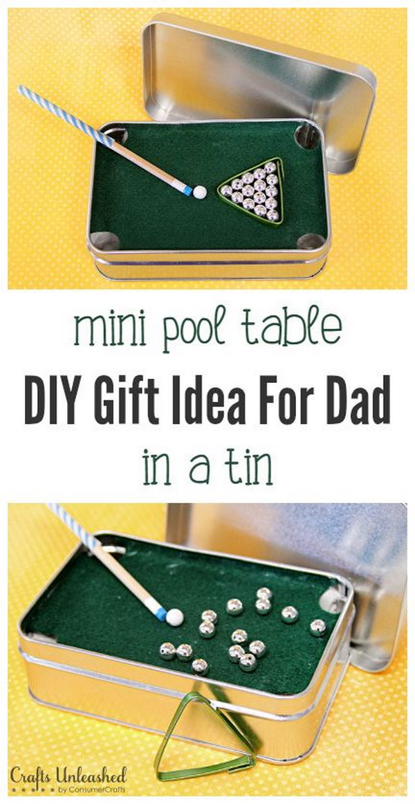 DIY Mini Pool Table.
