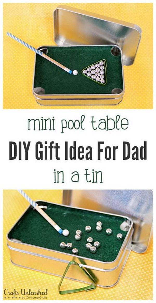 DIY Mini Pool Table.