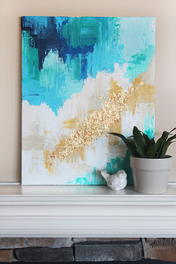 Easy DIY Abstract Art.