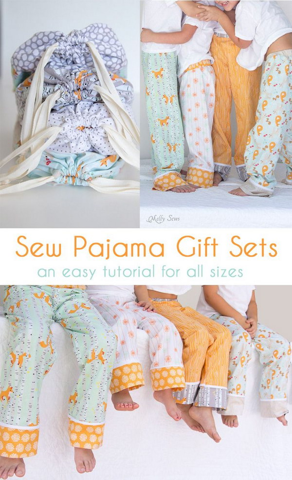 Sew Pajama Pants with Tutorial and Pattern.