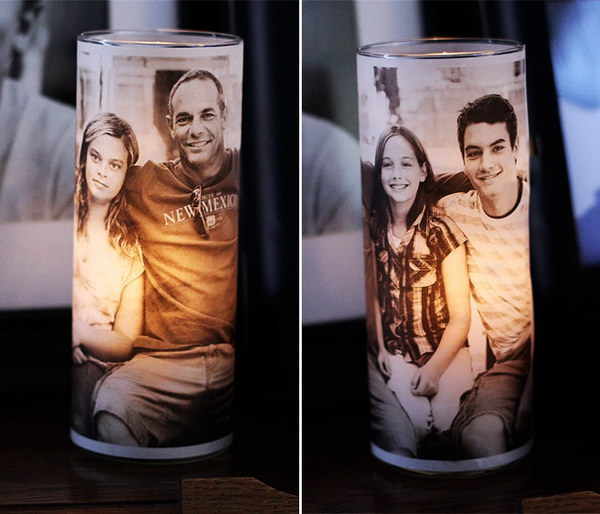 DIY Photo Candle Holder.