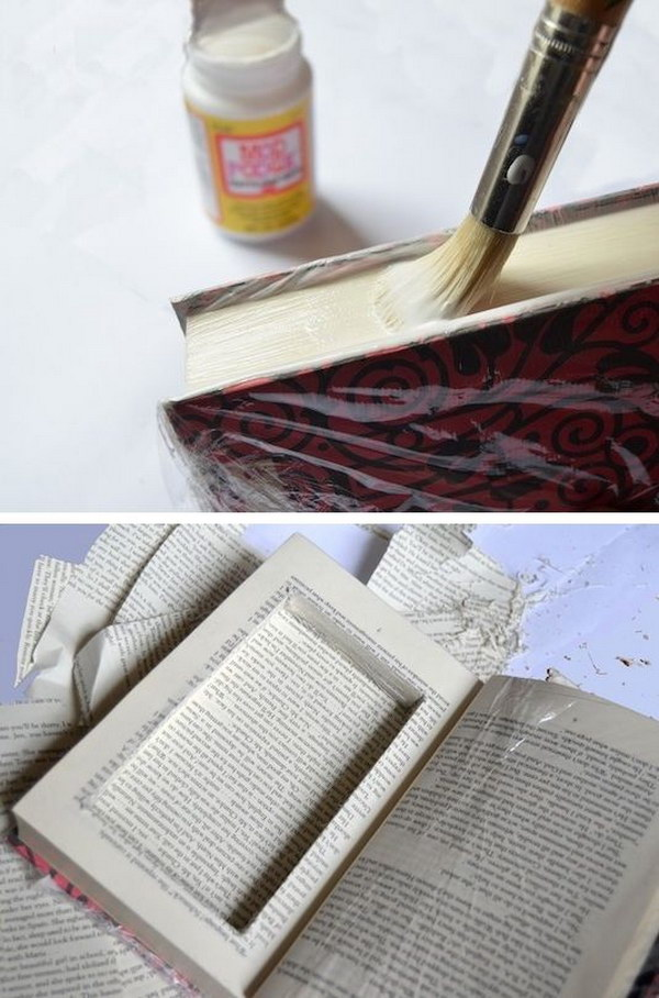 A Secret Keep Sake Box Made from an Old Book.