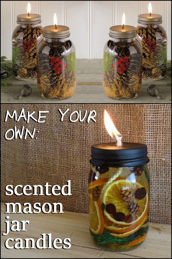 Scented Mason Jar Candles.