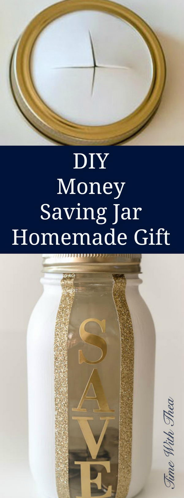 DIY Money Saving Jar Homemade Gift.