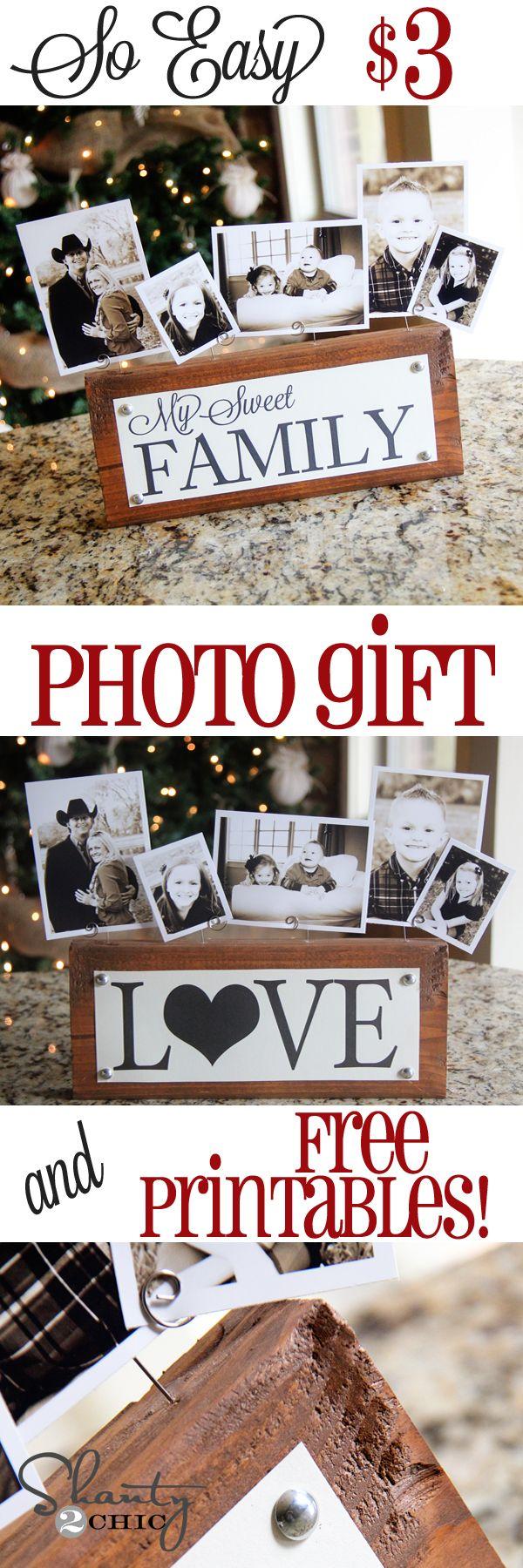 DIY Photo Block Gift.