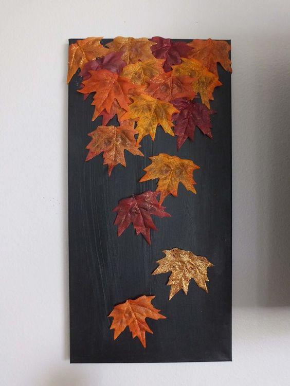 Fall Leaf Canvas.