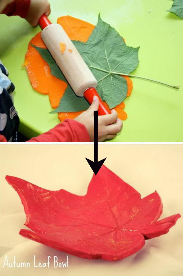 DIY Clay Leaf Bowls.
