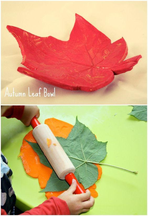 DIY Clay Leaf Bowls.