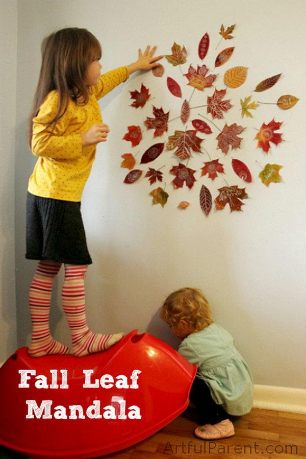 Fall Leaf Mandala Wall Art.