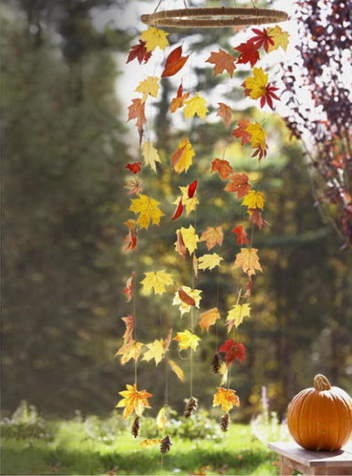 Wind Fall Leaf Mobile.