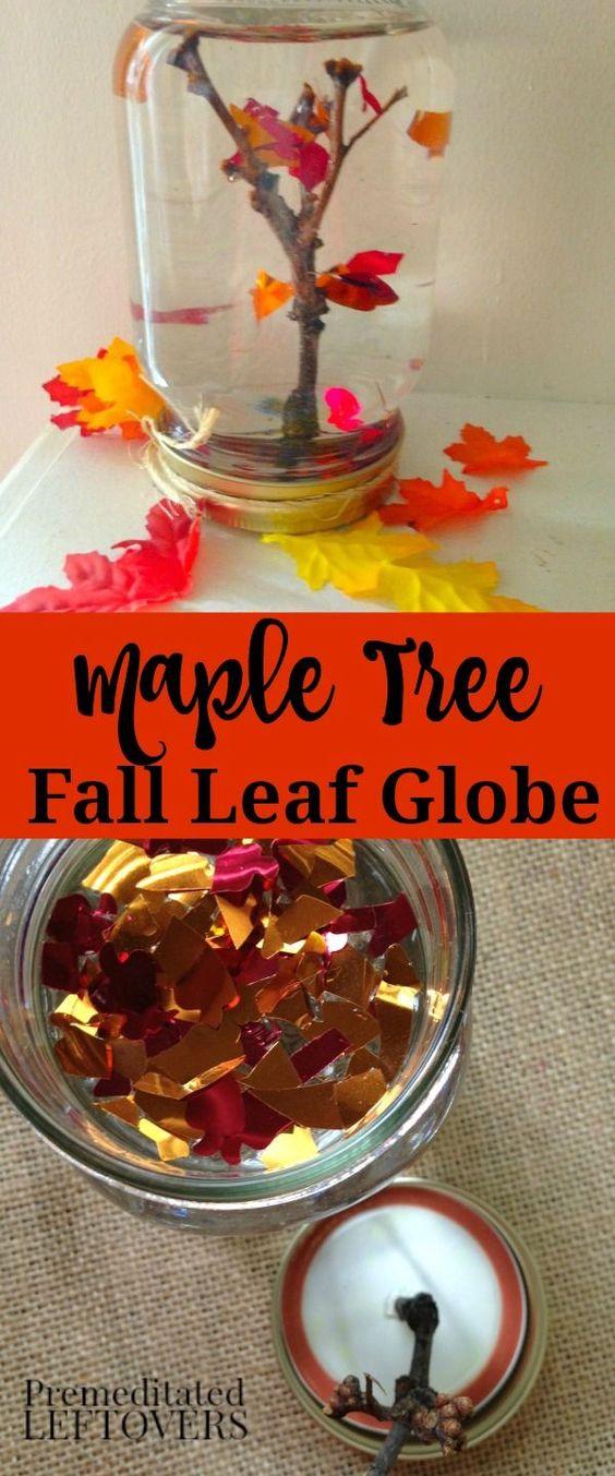 Maple Tree Fall Leaf Snow Globe.