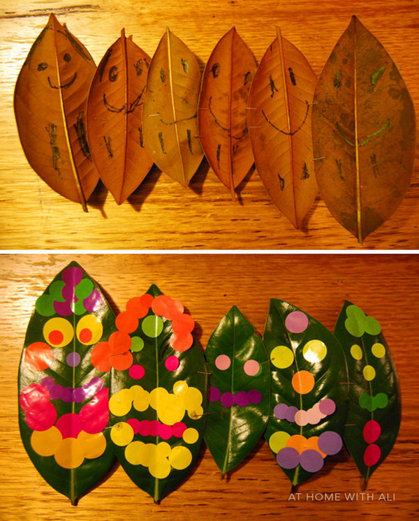 Leaf People Crafts for Kids.
