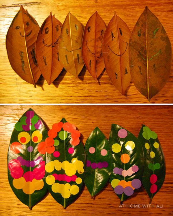 Leaf People Crafts for Kids.