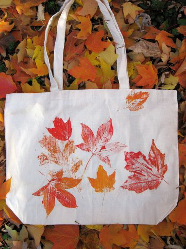 Leaf Prints Tote Bag.