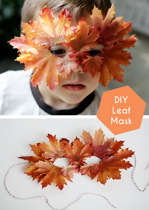 DIY Leaf Mask.
