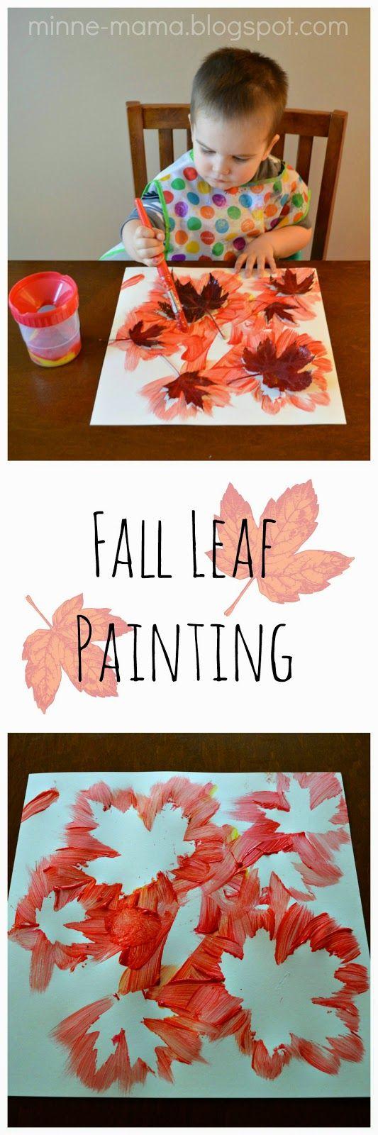 Fall Leaf Painting.