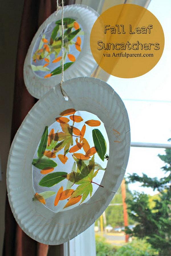 Fall Leaf Suncatchers Project.