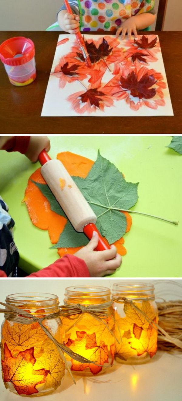 30 Awesome DIY Ideas and Tutorials Using Fall Leaves.
