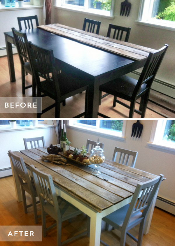Dining Table and Chairs Makeover